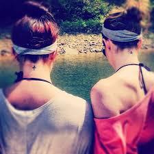pretty women u0027s show simple small cross tattoo on back neck