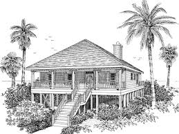 raised beach cottage house plans colorful beach cottage elevated