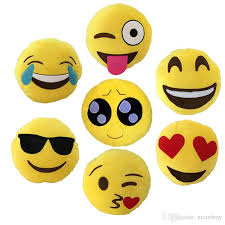soft emoji smiley emoticon round cushion pillow sofa stuffed plush