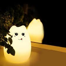 usb cat night light 2018 night lights usb cat led children animal night light silicone
