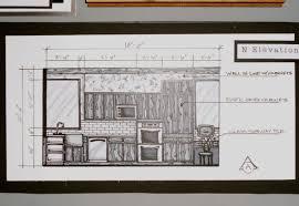 outstanding kitchen elevation rendered karen kalafat portfolio