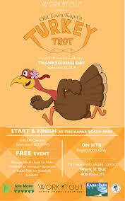 turkey run thanksgiving day kapaa turkey trot 2014 kauai path