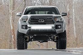 lift kit for 2013 toyota tacoma 30in single row led light bar bumper kit for 2016 2017