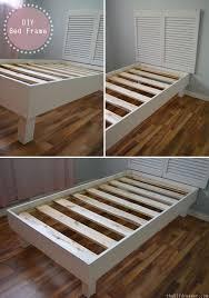Build Wooden Platform Bed Frame by Bed Frame Bed Frame Purpose Reclaimed Wood Platform Bed Frame