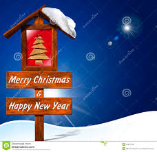 merry and happy new year stock illustration image