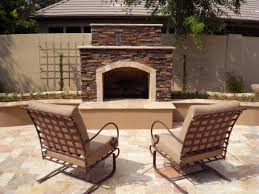 Outdoor Chimney Fireplace by Cozy Up Outdoor Fireplaces In Arizona Landscape Designs