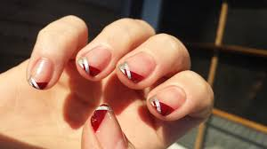 holiday twist on a french manicure lacq attacq