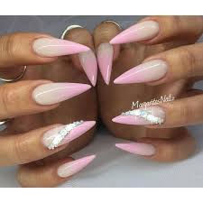 Light Pink Acrylic Nails The 25 Best Pink Stiletto Nails Ideas On Pinterest Acrylic