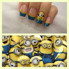 despicable me 2 minions nail art by the youtube channel dripping