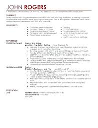 waitress resume exle waitress resume waiter resume template waiter resume sle free