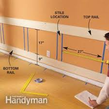 Build Your Own Wainscoting How To Build A Wainscoted Wall Family Handyman