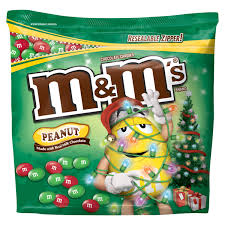 m u0026m u0027s holiday peanut chocolate candy party size bag 42 oz