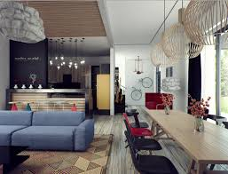 house gorgeous industrial theme for home interior and exterior contemporary houses interior and exterior design with small yard sweet combination living room and dining