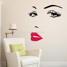 aliexpress com buy diy beautiful face eyes and lips wall art