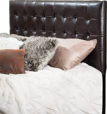 King Tufted Headboards by Denise Austin Home Lucca Tufted Bonded Leather King Cal King