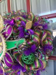 mardi gras deco mesh mardi gras purple green and gold deco mesh door wreath