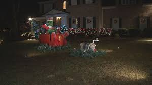 the grinch christmas lights khou size grinch yard display brings christmas cheer
