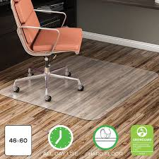 Chair Casters For Laminate Floors Amazon Com Deflecto Economat Clear Chair Mat Hard Floor Use