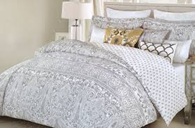 Gray Paisley Duvet Cover Moroccan Bedding Sets