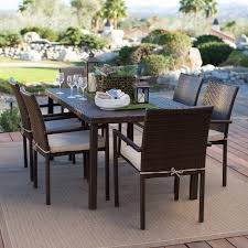 all weather dining table outdoor coral coast south isle all weather wicker dark brown patio