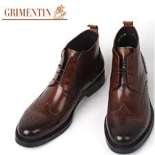 ankle boots men spring autumn british style genuine leather boots
