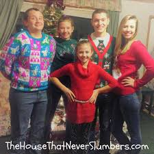 ugly christmas sweaters gone wild the house that never slumbers