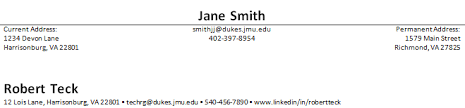 Example Of Objective In A Resume by James Madison University Resume Content