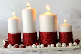 Homemade Christmas Decor Glitter Candles Easy Diy Christmas Decorations Two Sisters
