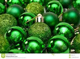 new year decor green balls for tree stock