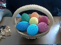easter egg baskets to make how to make 3d origami happy easter egg basket