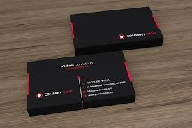 Red Business Cards Black Red Corporate Business Card Business Card Templates