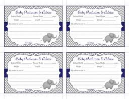 baby shower advice cards baby shower prediction and advice cards printable baby