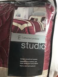 catherine lansfield super king size duvet bedspread and curtains