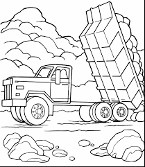 marvelous dump truck coloring pages with dump truck coloring pages