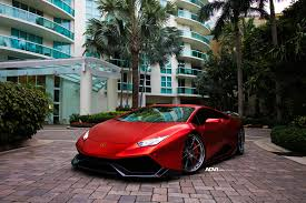 wrapped lamborghini matte red lamborghini huracán with 1016 industries kit and adv 1