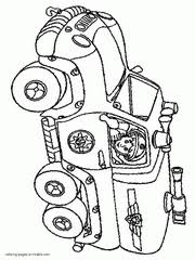 toy fire truck coloring pages