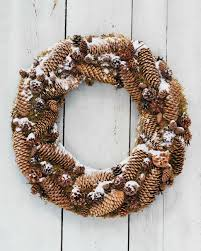 pinecone wreath frosted pinecone wreath martha stewart