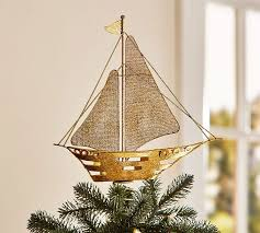 ship tree topper pottery barn