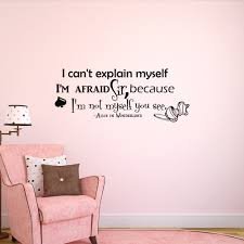 alice in wonderland wall decal quote i can t explain details alice in wonderland wall decal