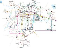 Msu Maps Lansing Michigan Public Transportation Map Lansing U2022 Mappery