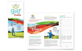 charity golf event brochure template word u0026 publisher