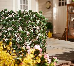 compass home expandable faux ivy privacy fence page 1 u2014 qvc com