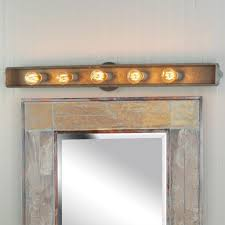 Bathroom Vanity Light Ideas The Brilliant And Interesting Rustic Bathroom Vanity Lights With