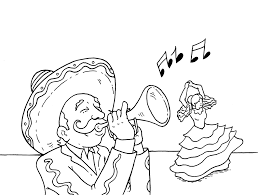 music in mexico coloring page coloring home