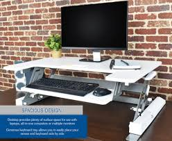 desk v000w vivo height adjustable standing desk riser gas spring
