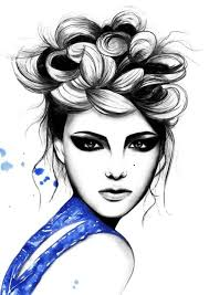 drawn makeup fashion pencil and in color drawn makeup fashion