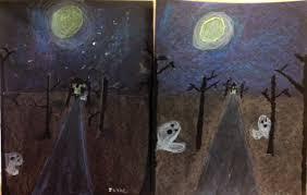 1 point perspective spooky roads art teacher in la
