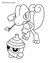treecko and seedot pokemon coloring page more grass pokemon