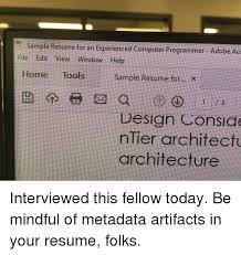Computer Programmer Meme - sle resume for an experienced computer programmer adobe aci file