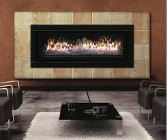 living room black iron custom fireplace insert with glass screen